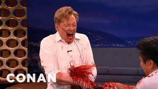 Conan Takes A Samurai Sword To The Gut