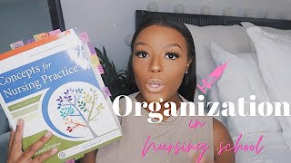HOW TO STAY ORGANIZED IN NURSING SCHOOL | Organization TIPS!