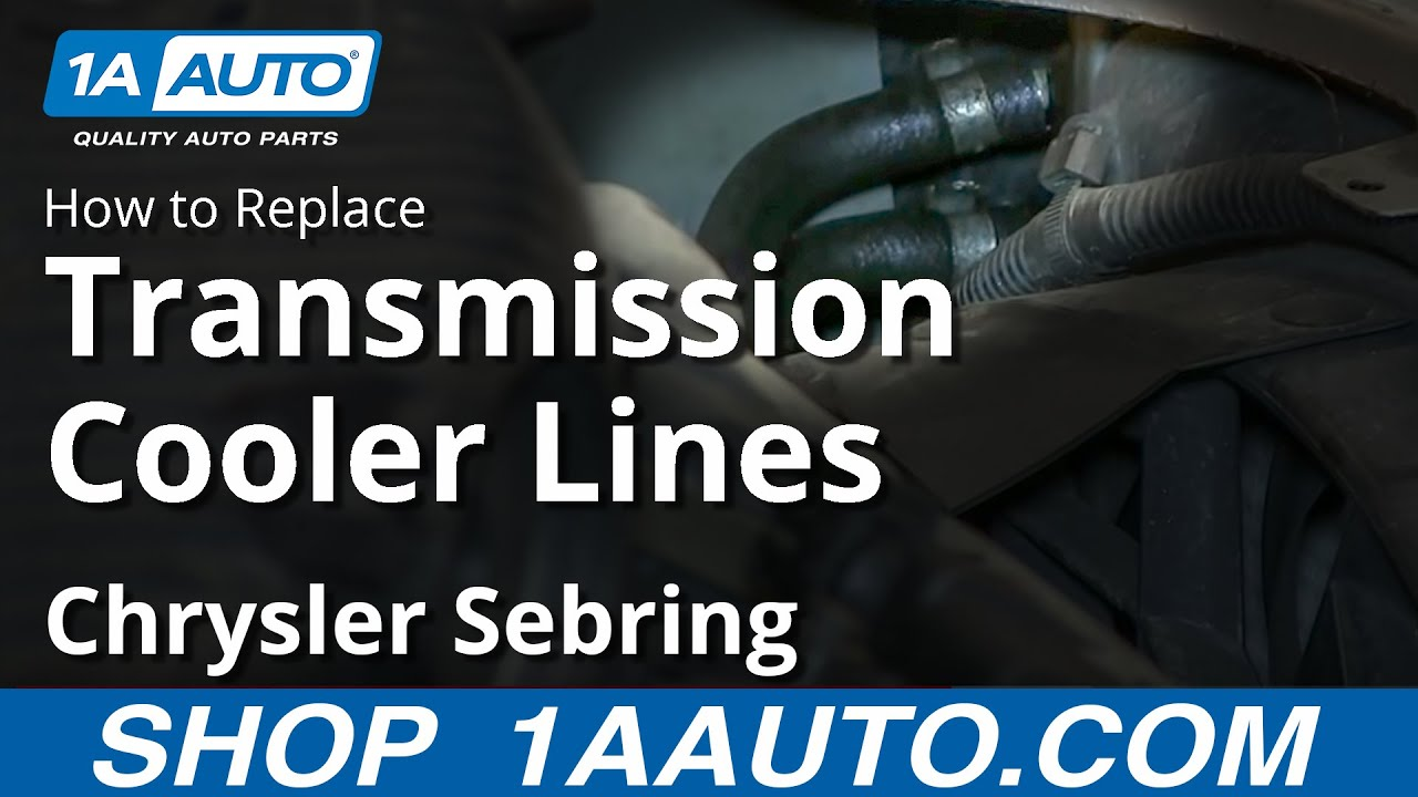 How To Install Replace Transmission Cooler Lines 2001 06 Chrysler Sebring Youtube