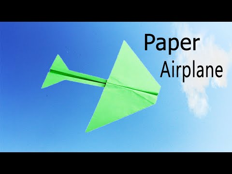 Super Fast Paper Airplane  - How To Make A Paper Airplane - Origami Paper Airplane