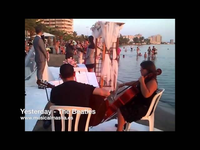 GUITARRA Y CHELO boda Area Sunset La Manga - Musica bodas Cartagena Murcia Lorca Alicante