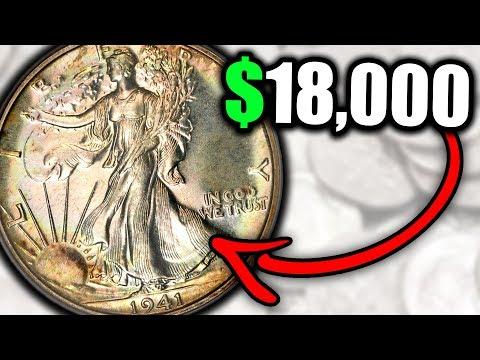 1941 WALKING LIBERTY HALF DOLLAR COINS WORTH MONEY - RARE SILVER COINS!!!