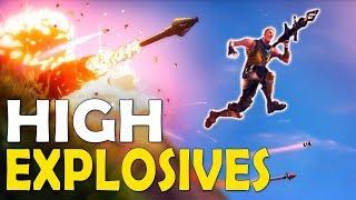 HIGH EXPLOSIVES V2 | HOW DID I SURVIVE!? | CRAZY INTENSE GAME - (Fortnite Battle Royale)