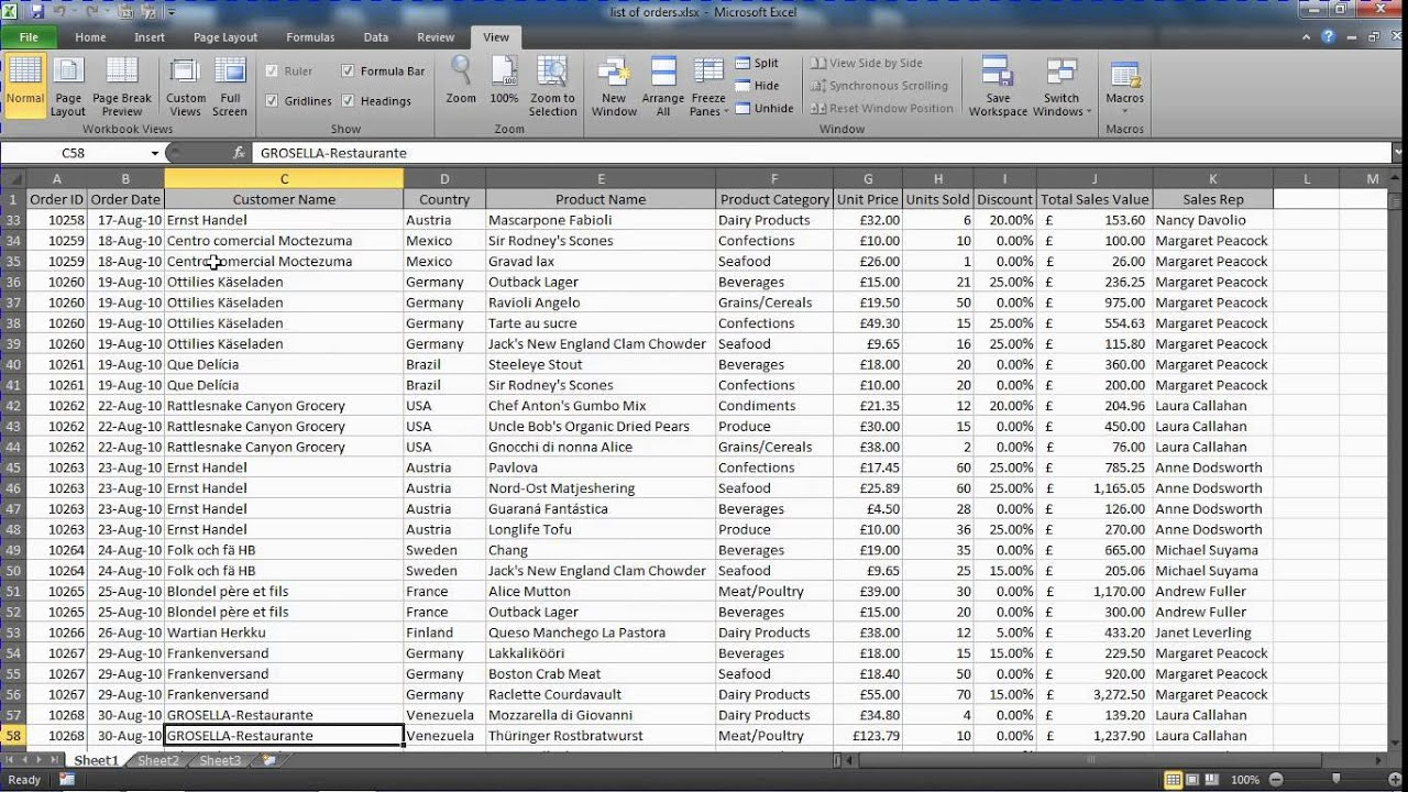 Freeze The Top Row And First Column Of A Spreadsheet