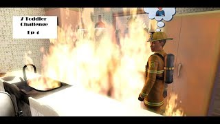 7 toddler challenge ep 4 There Was A Fire!!!!