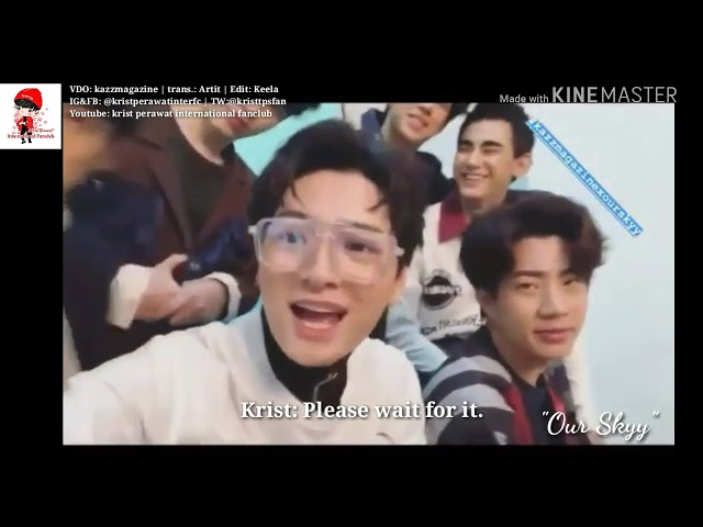 [Eng Sub] Krist Perawat with others for kazz magazine
