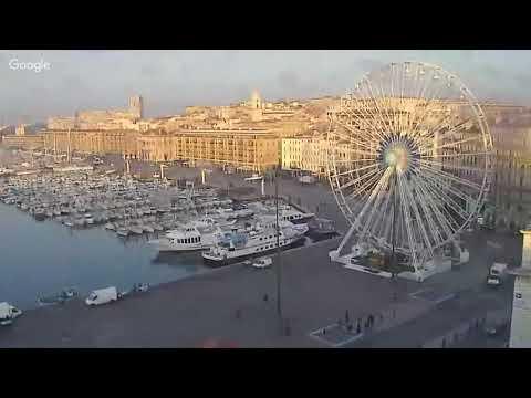 Visionnage en direct du Vieux-Port de Marseille