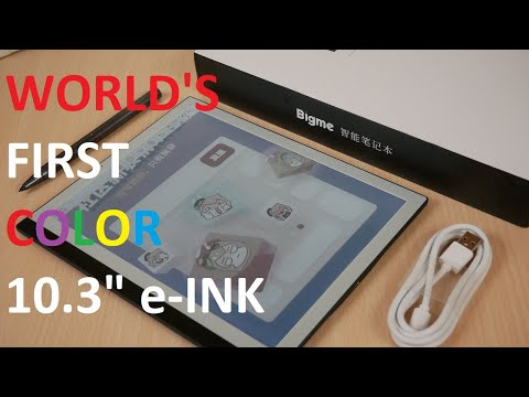 """BIGME World's First COLOR 10.3"""" e-Reader with Stylus Unboxing"""