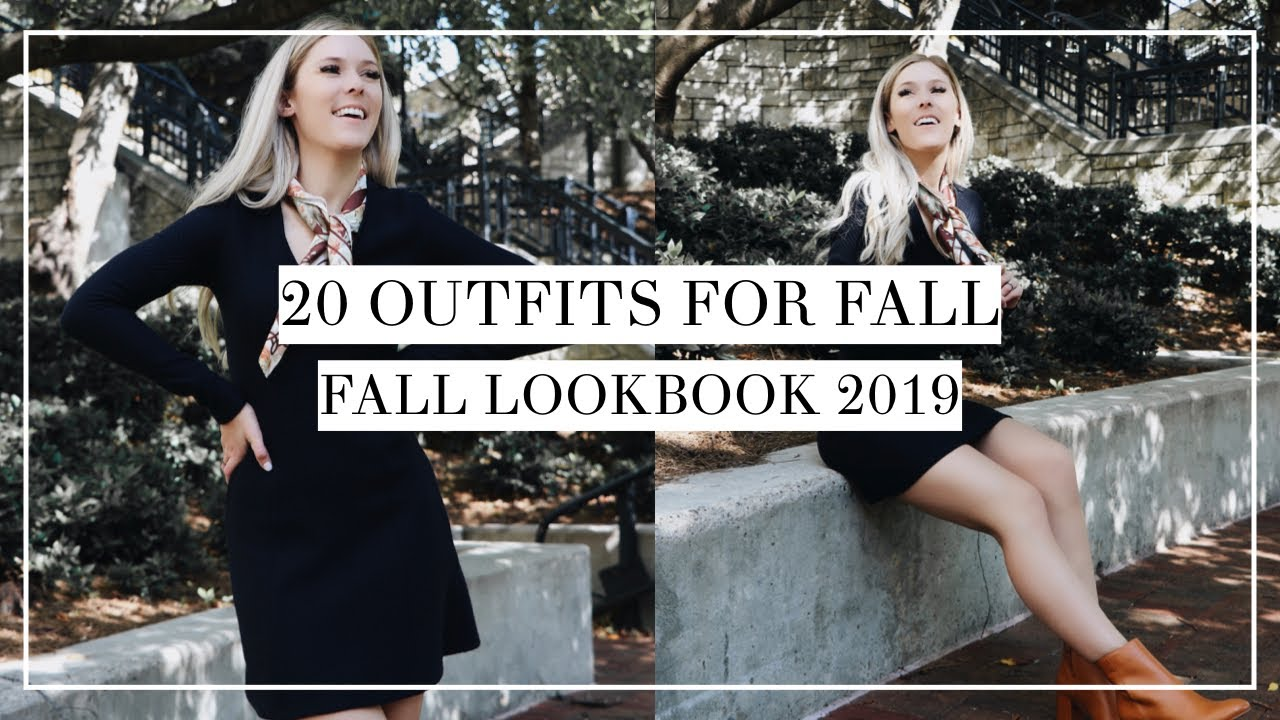 [VIDEO] – 20 Outfits for Fall | Fall Lookbook 2019