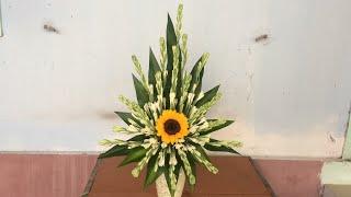 Cắm Bình Hoa Huệ  Dạng Thẳng - Đơn Giản Dễ Cắm Cho Người Mới Cắm Hoa