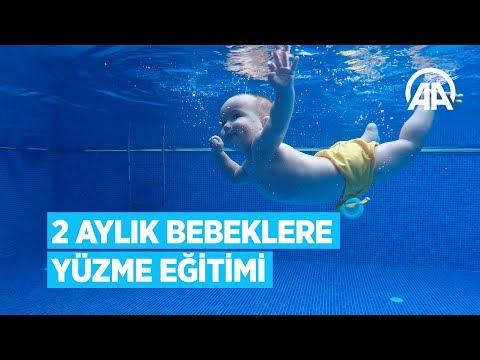 2 Aylık Bebeklere Yüzme Eğitimi