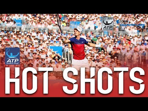 Murray No Look Backhand Hot Shot London Queens 2017
