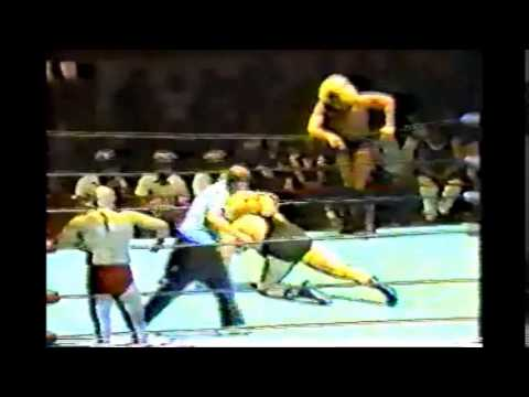 Ric Flair and Angelo Mosca vs Greg Valentine and Hussein Arab