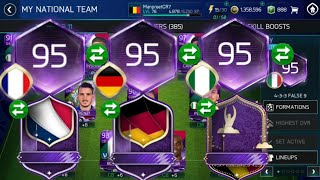 Best way to get masters+ 95 team in world cup mode FIFA Mobile 18! Insane tiers pack luck!