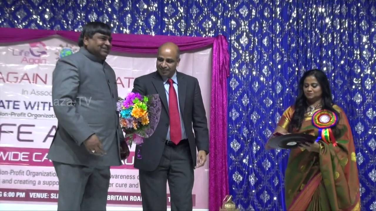Dr.Sreenivas Gunukula felicitating Mr.Gayatri Prasad,UP Minister for Mines.