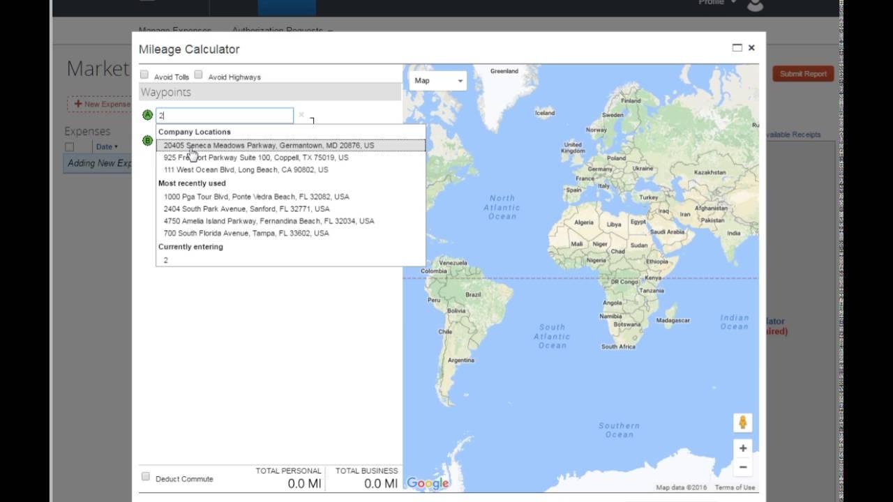 florida map mileage calculator