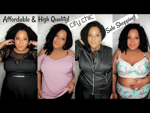 SHOP WITH ME.. ONLINE! FINDING SALES ON HIGH QUALITY PLUS SIZE CLOTHES!   CITY CHIC TRY-ON HAUL 2018