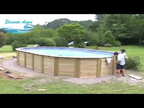 Montaggio piscina fuori terra in legno  YouTube