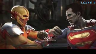 Injustice 2 - Обратный Флэш против Бизарро - Intros & Clashes (rus)