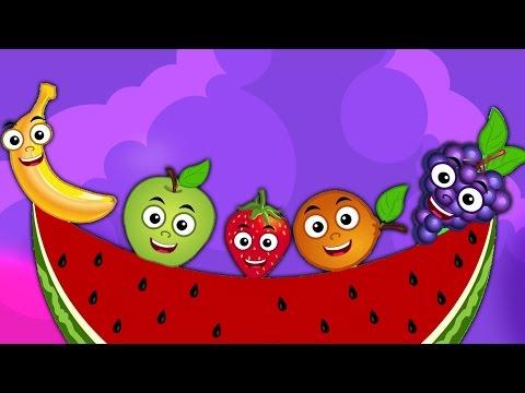 Frutas Familia Del Dedo   Rimas i para bebés   Nursery Rhymes   Kids Songs   Fruits Finger Family
