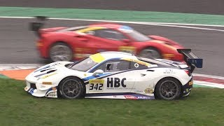 Ferrari Finali Mondiali 2018 Monza Day 2-Crash,Spin,Action & More