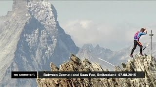 Mountain runner sets new record for five-peak challenge - no comment