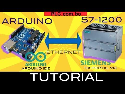 Siemens S7-1200 PLC to Arduino - YouTube