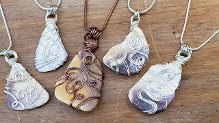 Wampum Seashells Wrapped in Silver and Copper - Eps 108