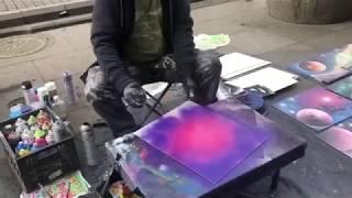 Уличный художник Питера/ в конце неожиданно стал факиром/ красиво/