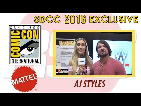 AJ STYLES - Mattel WWE Interview at SDCC 2016!