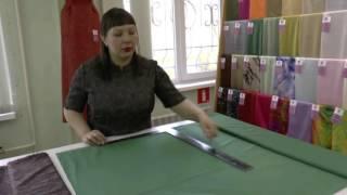 как правильно отрезать ткань для подклада в прямую юбку?