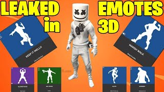TODOS LOS NUEVOS EMOTES FORTNITE LEAKED EN VISTA DE ANIMACIONES 3D - Nuevo Keep it Mello Emote Fortnite