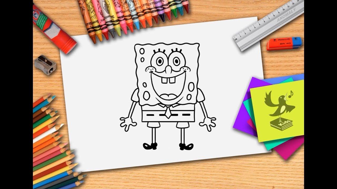 hoe teken je spongebob zelf spongebob squarepants leren