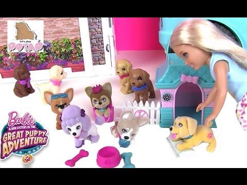 Мультики Барби. ЩЕНЯТА С ДОМИКОМ! Barbie Great Puppy Adventure Кукла Барби Мультик