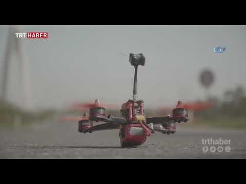 Drone pilotları için Yavuz Sultan Selim Köprüsü'nün ayakları hız pisti oldu.