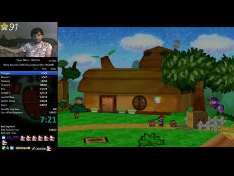 Paper Mario Glitchless Speedrun in 3:40:22