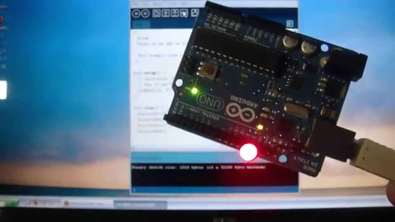 Arduino project hello world led flashing youtube