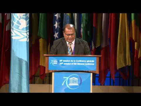 38th General Conference – 6 11 2015 General Policy Debate   Tuvalu