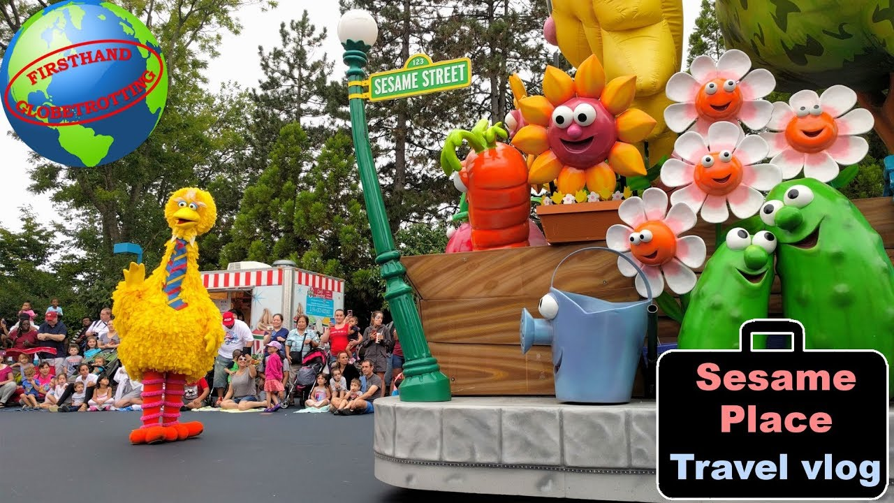 Sesame Place amusement park vlog! Seeing the Sesame Street characters in  Langhorne, PA