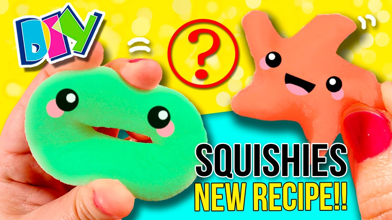 How to make homemade SQUISHIES ?? NEW RECIPE!! DIY Super EASY Stress Balls - YouTube