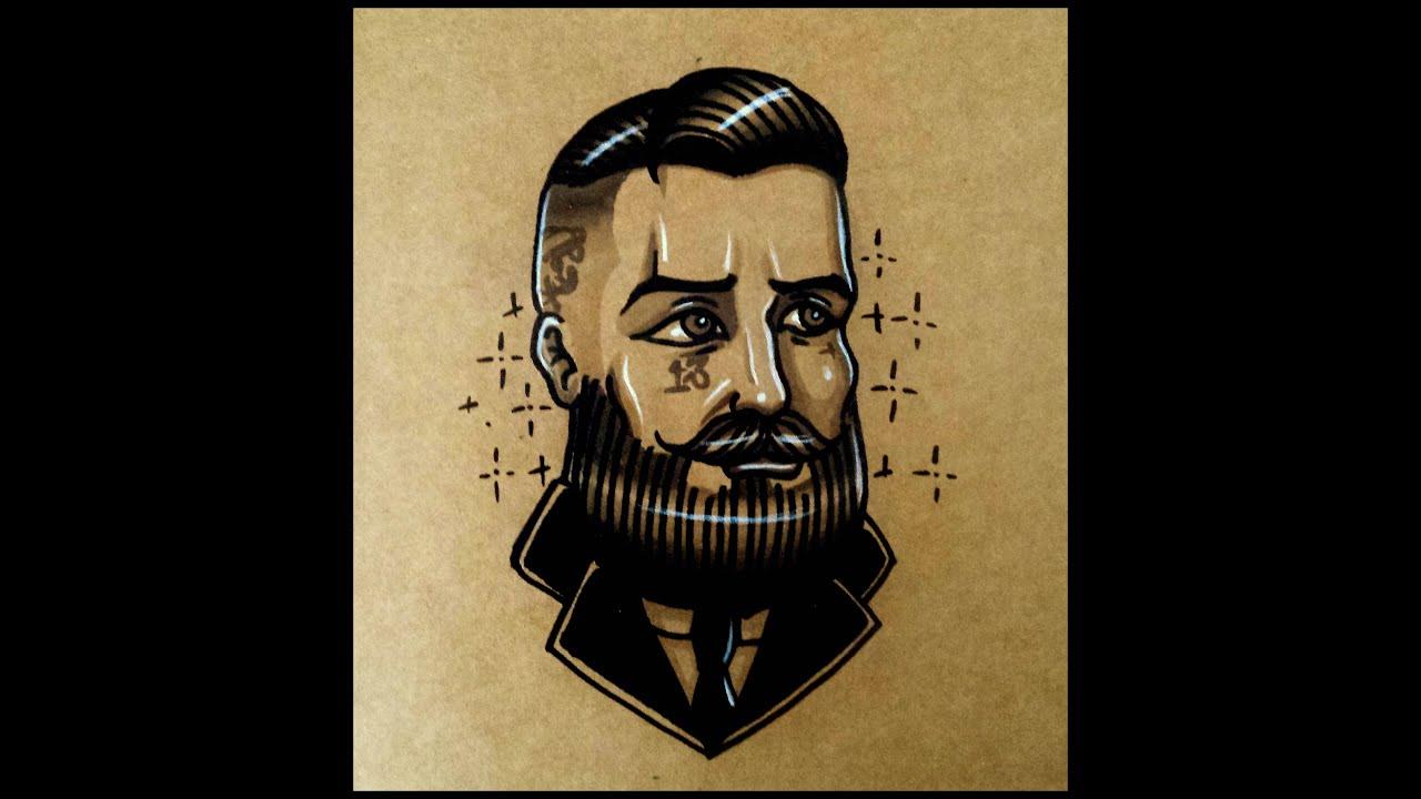 How to draw an Old School Bearded Gentlemen By thebrokenpuppet ...