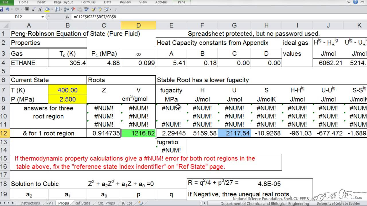 real gas expansion part 2 excel solver youtube