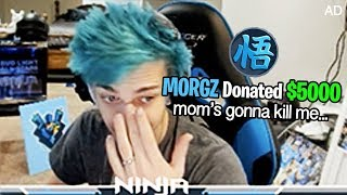 donating  5000 to fortnite streamers on mom s credit card     ninja