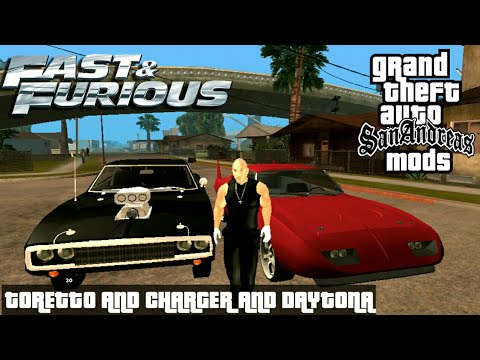 Fast And Furious Toretto Skin And Muscle Cars Gta Sa Mobile F F Modpack Youtube