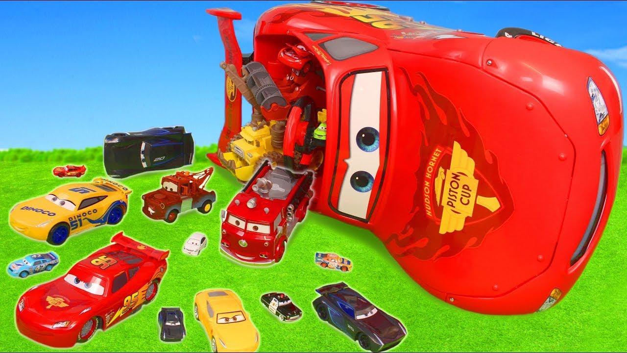 cars toys play lightning mcqueen ride on crash fire. Black Bedroom Furniture Sets. Home Design Ideas