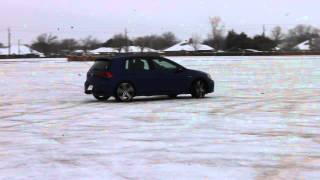 Golf R at it on the ice