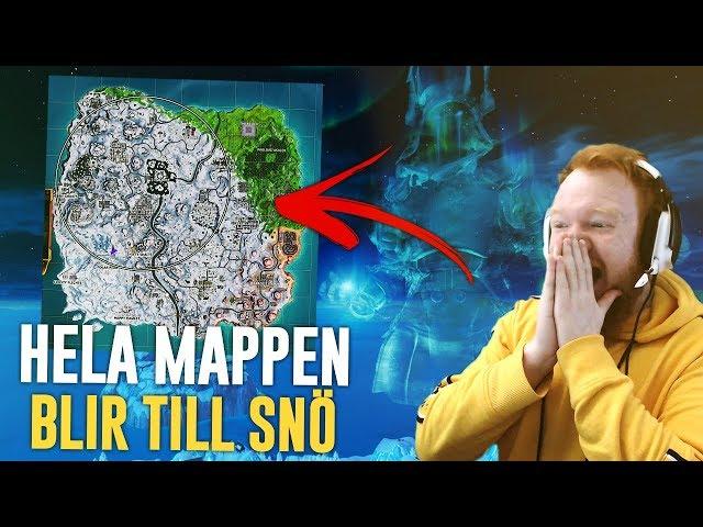 HELA MAPPEN BLIR TILL SNÖ, 30 KILLS GAMEPLAY! (MIN REAKTION PÅ LIVE EVENTET)