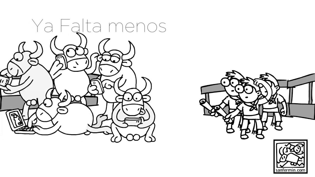 Dibujos San Fermin Para Colorear