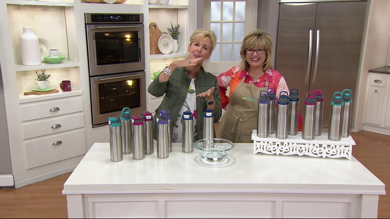 5ab443e672 Contigo Set of 2 24oz. Autoseal Chill Stainless Steel Water Bottles on QVC