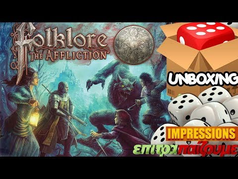 Folklore The Affliction - Unboxing & Impressions by Epitrapaizoume.gr
